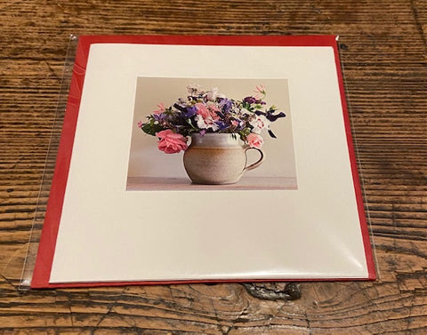 Summer Flowers in a Mug (card)
