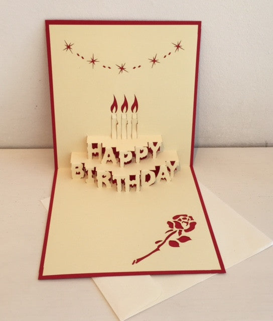 Happy Birthday Card (Cake with Candles)