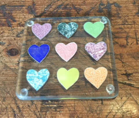Hearts Glass Coaster 1