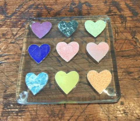 Hearts Glass Coaster 3