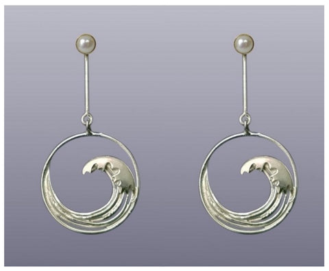 Hokusai Long Earrings
