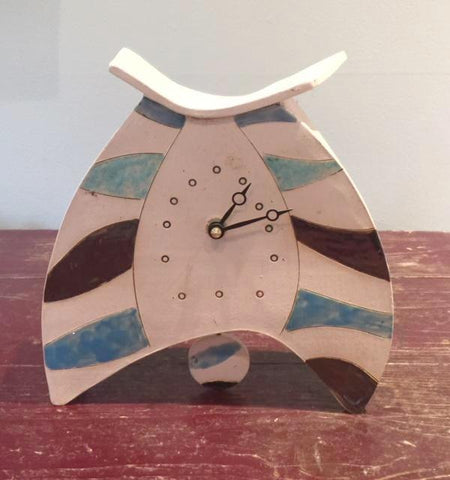 Blue Stripes Pendulum Clock