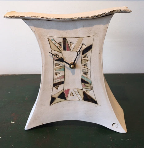Medium Mantel Clock with Triangles