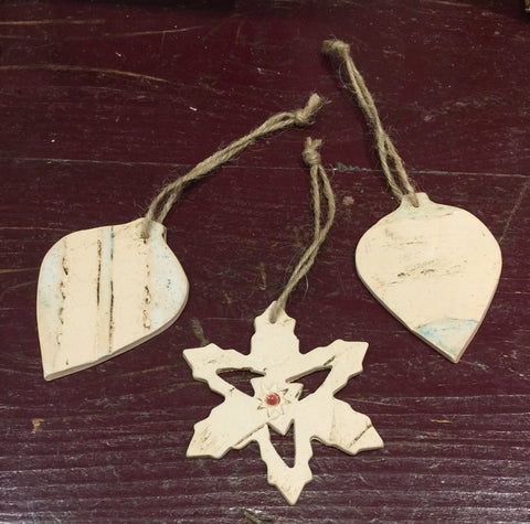 Ceramic Decorations 2 (set of three)