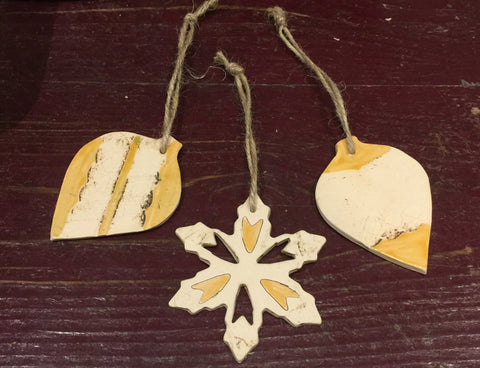 Ceramic Decorations 3 (set of three)