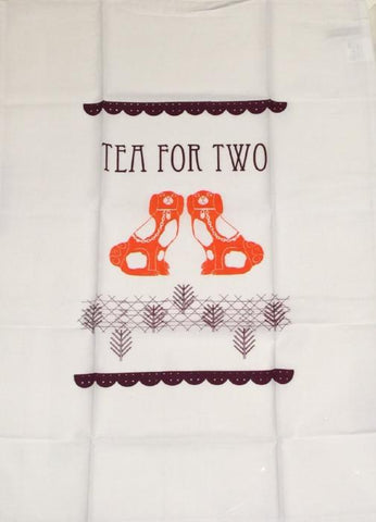 Tea for Two (Spaniel tea towel)