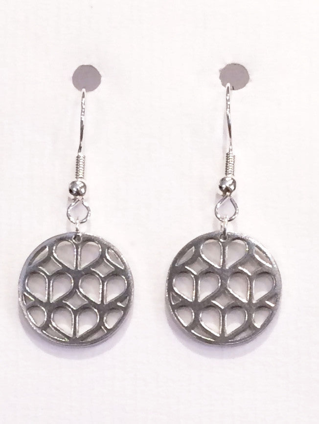 Circle Koa Trellis Earrings