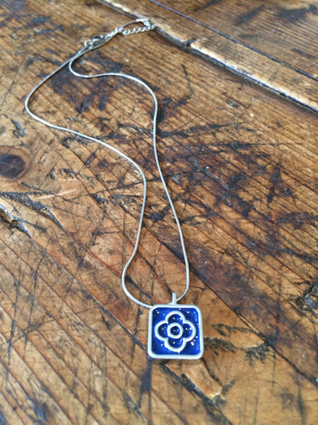 Blue Flower Pendant