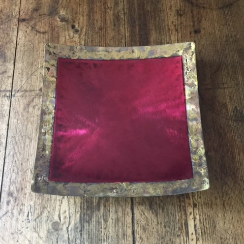 Square Plate (Red)