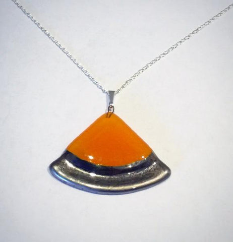 Fan Bubble Pendant 1 (Orange)