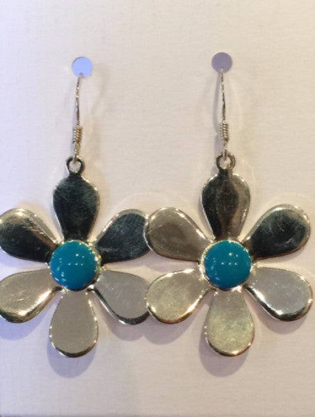 Daisy Flower Earrings (Teal)