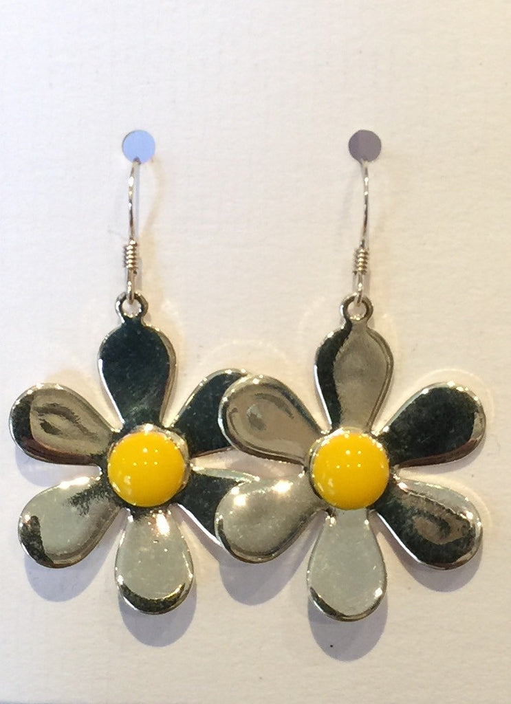 Daisy Flower Earrings (Yellow)