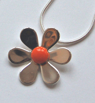 Daisy Flower Pendant (Orange)