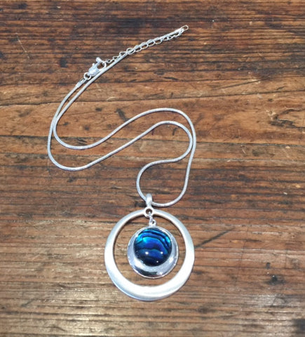 Double Circle Pendant (Teal)