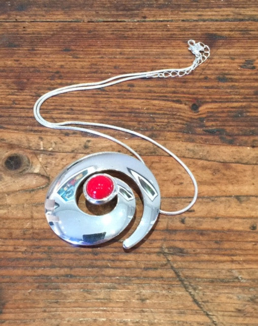 Large Snail Pendant (Red)