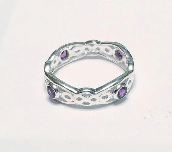 Celtic Style Amethyst Ring  (medium)