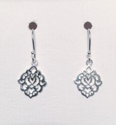 Filigree Style Abstract Design Earrings 2