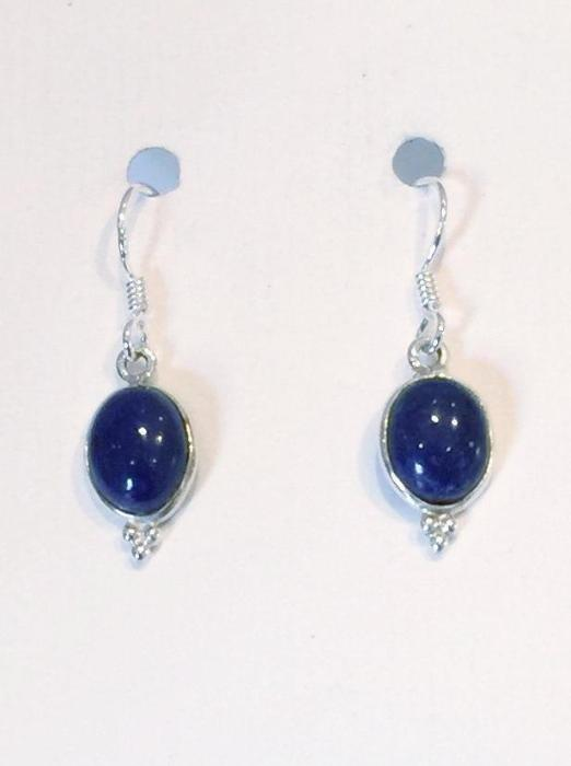 Oval Earrings (Lapis Lazuli)