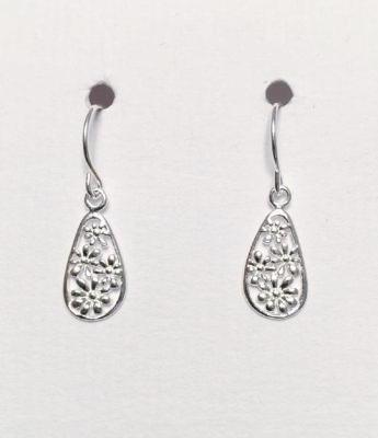 Filigree Style Teardrop Earrings
