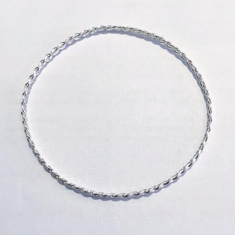 Silver Plaited Bangle