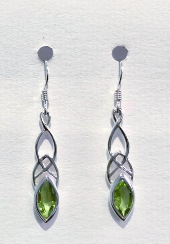 Celtic Design Earrings (Peridot)