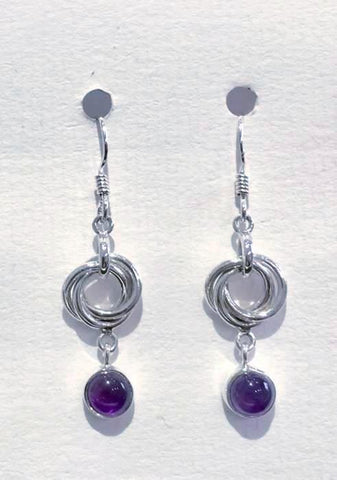 Multi Hoop Earrings (Amethyst)
