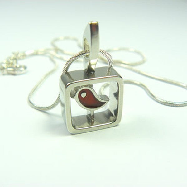 Sand Bird Pendant (Red)