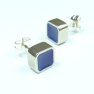 Blue Square Block Studs