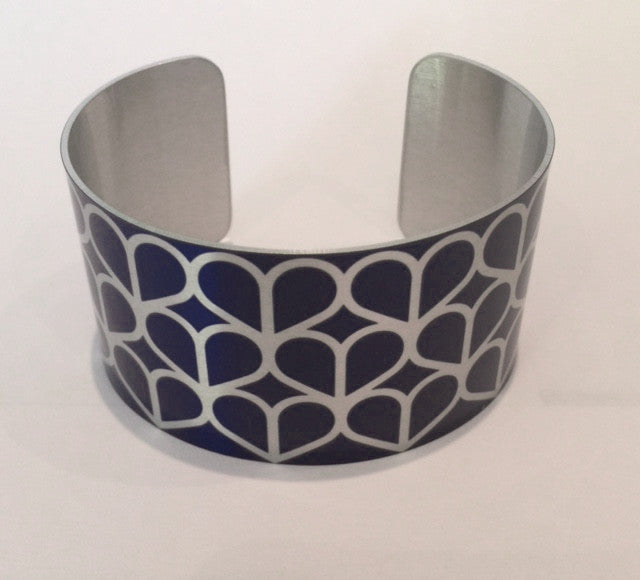 Navy Honeycomb Cuff Bangle