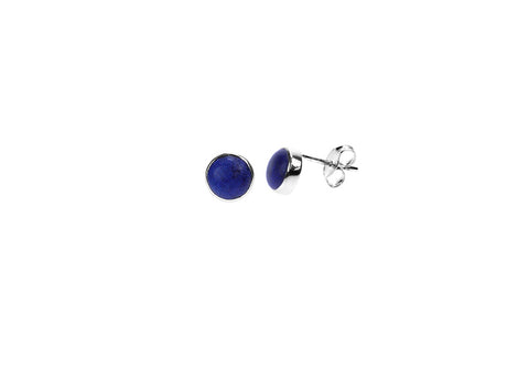 Lapis & Silver Stud Earrings