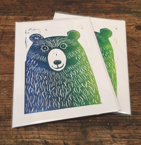 Bear Card (Green)