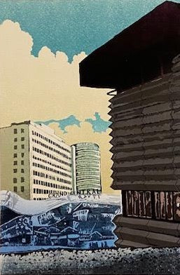 New Street Station Signal Box  (Giclee Print)