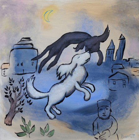 Chagall's Dog in Love