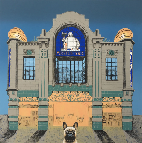 Wes Anderson's Dog - Michelin Building (21/50) framed