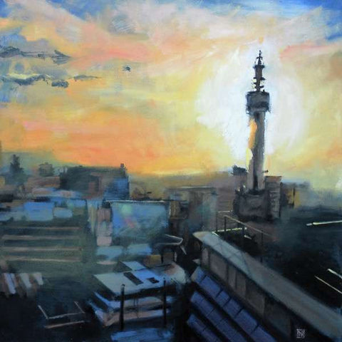 Sunset View Towards BT Tower (Print)