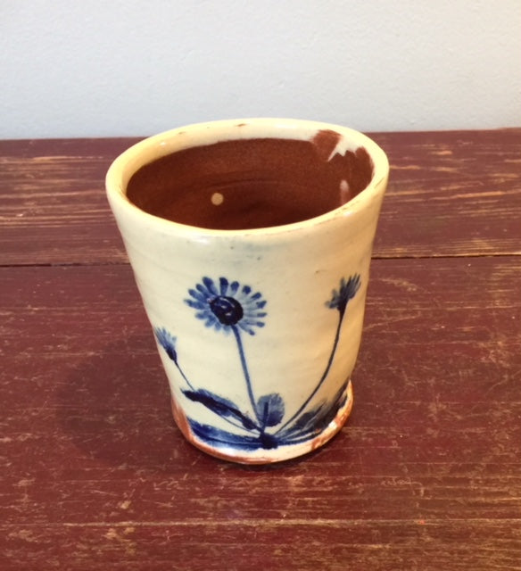 Blue Flowers Beaker 1