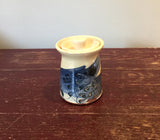 Blue Flowers Lidded Pot (small)