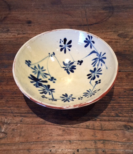 Blue & White Plants Bowl 3 (Small)