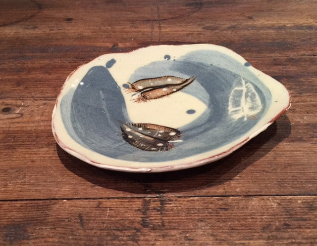 Feathers Plate (small)