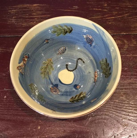 Beetles and Leaves Bowl (Medium)