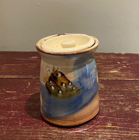 Small Lidded Jar (Feathers) (MJ30)