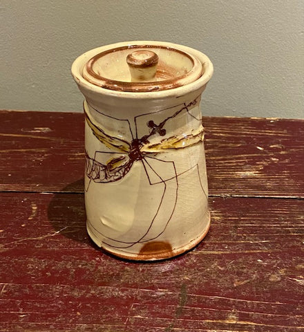 Small Lidded Jar (Daddy Long Legs) 2 (MJ36)