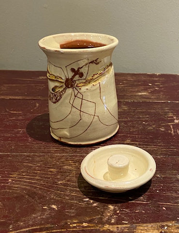 Small Lidded Jar (Daddy Long Legs) 1