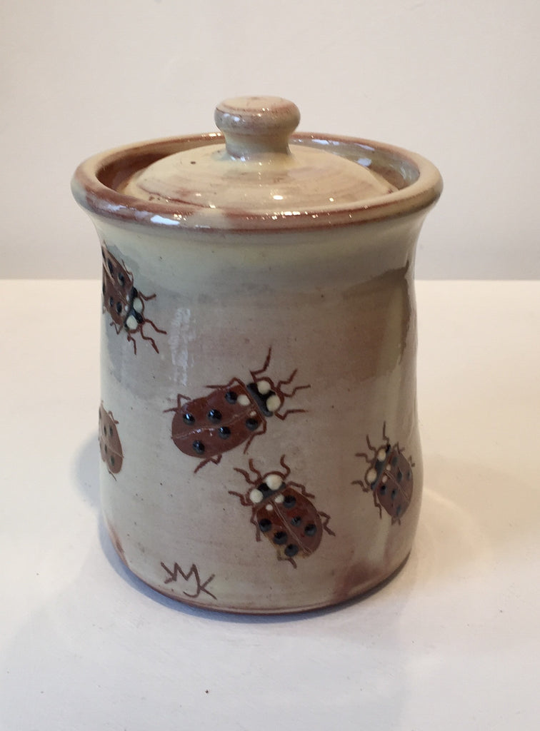 Ladybirds Lidded Pot (small)