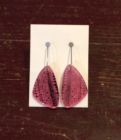 Acrylic Earrings (Pink)