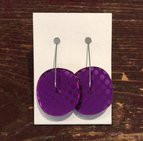 Acrylic Earrings (Purple)