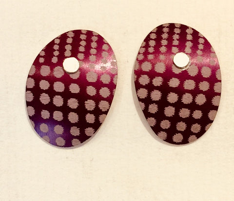 Oval Studs (Purple)