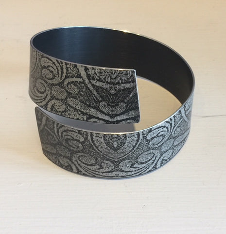 Black Strip Bangle