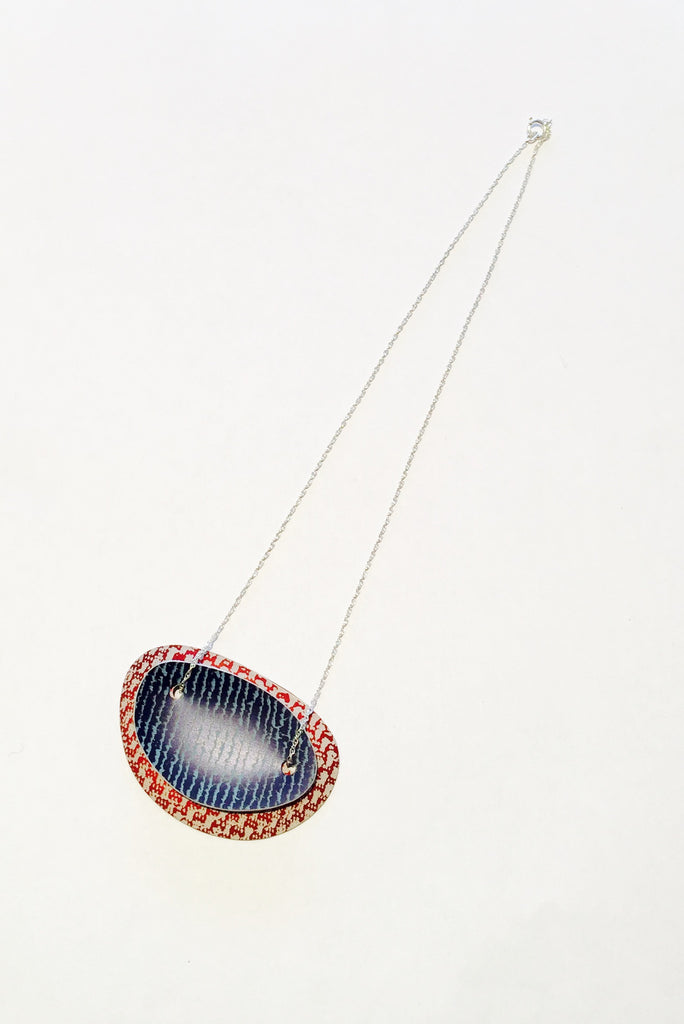 Linen Futures Double Oval Pendant