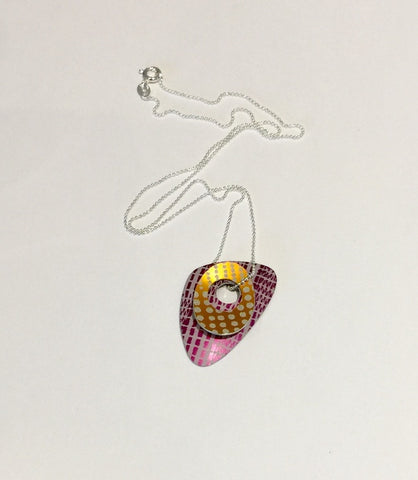 Double Pendant (Orange/Purple)